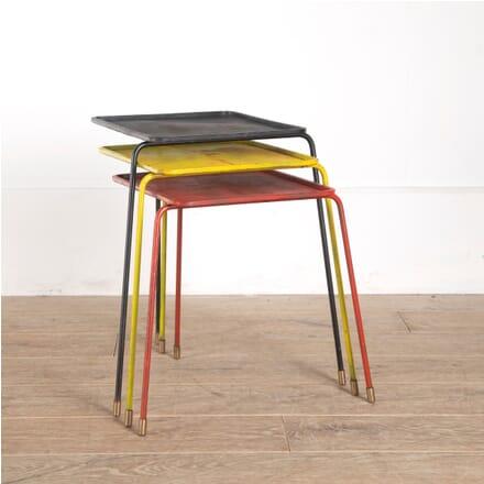Set of Three 'Soumba' Side Tables by Mathieu Matégot CO2912129
