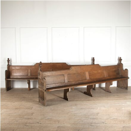 Pair of 19th Century English Oak Pews GA8812574