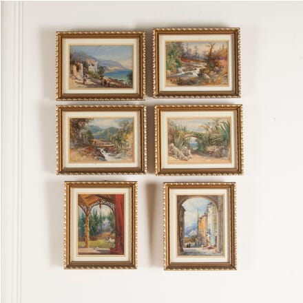 Six 19th Century Watercolours of Italy France and Scotland WD8812393