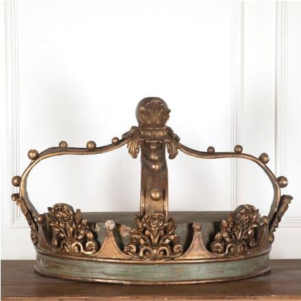 Rare 18th Century Italian Bed Crown Canopy DA2812157