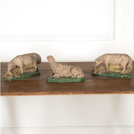 Set of Three 19th Century Pottery Sheep DA2812118