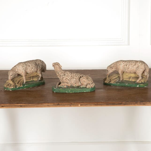 Set of Three 19th Century Pottery Sheep DA2812118
