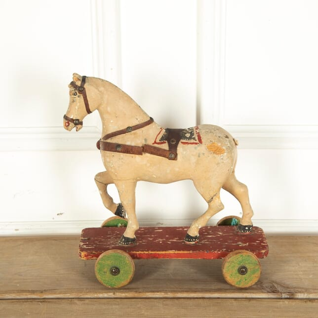 19th Century Toy Pull Along Horse DA4012107