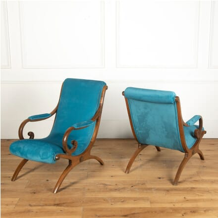 Pair of Colonial Style Arm Chairs CH4012159