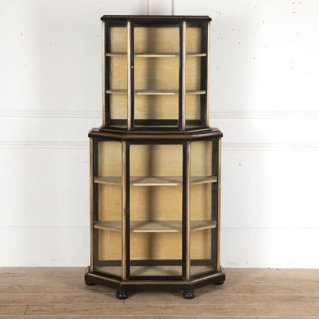 19th Century Napoleon III Ebonised Display Cabinet CU5113432