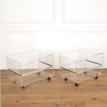 Pair of Lucite Side Tables CO4012147