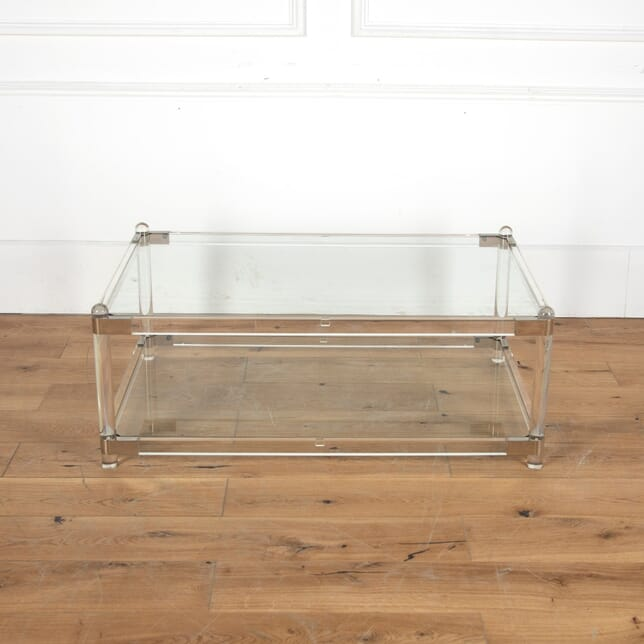 Lucite and Glass Coffee Table CT4012151