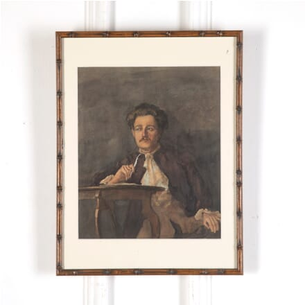 French Framed Watercolour of 19th Century Poet WD5913268