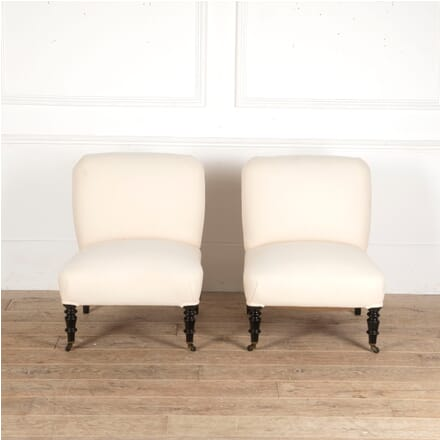Pair of French Slipper Chairs CH4513431