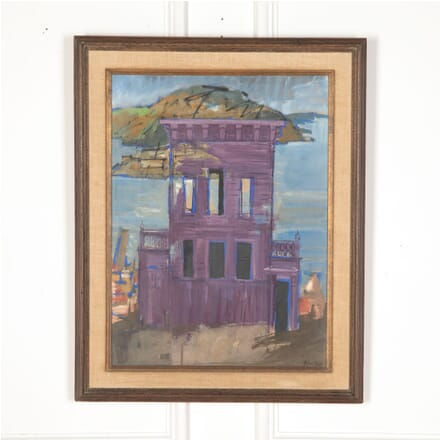 Allan Walton 'The Purple House' Signed Oil on Board WD5713273