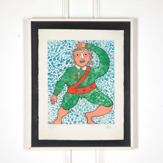 Enrico Baj 'The Swinging General' WD5713274