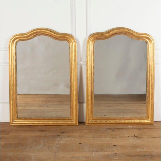 19th Century Pair of Giltwood Mirrors MI0313281