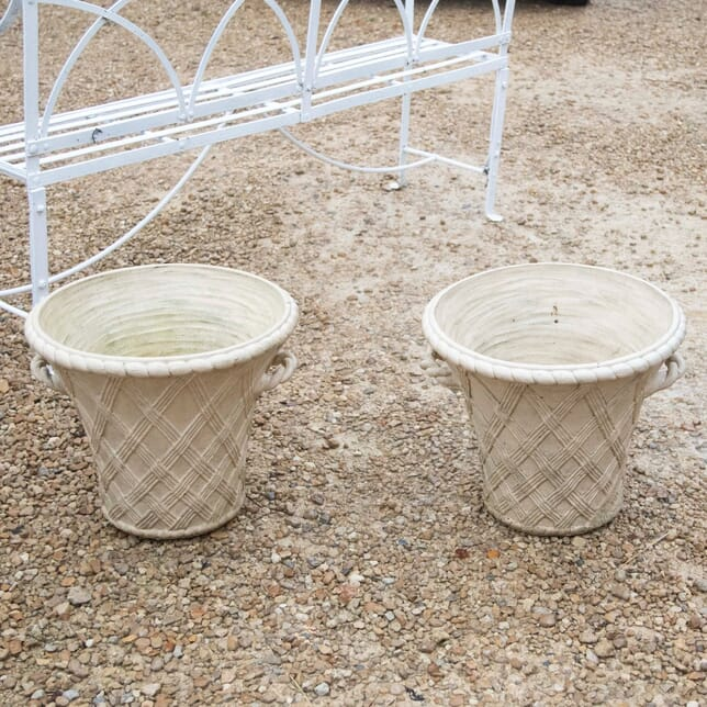 Pair of 20th Century Terracotta Garden Planters by Philip Thomason GA3311150