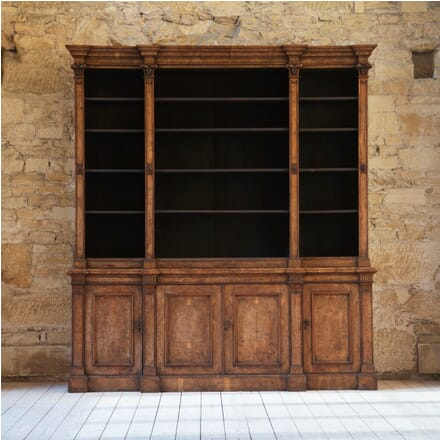 19th Century English Pollard Oak Bookcase BK019368