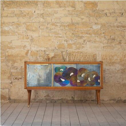 Mid Century Murano Console with Murano Glass Panels CO2812196
