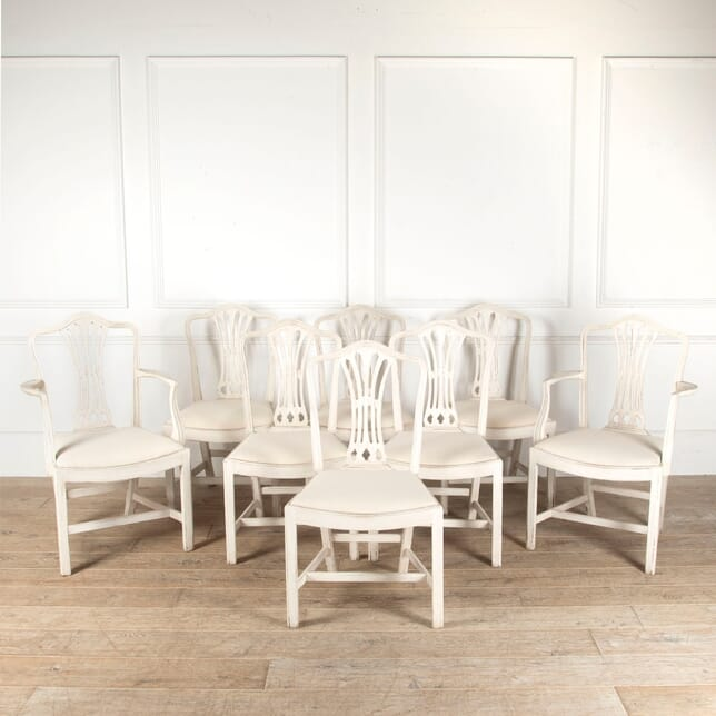 Set of Eight Painted Dining Chairs CD4512914
