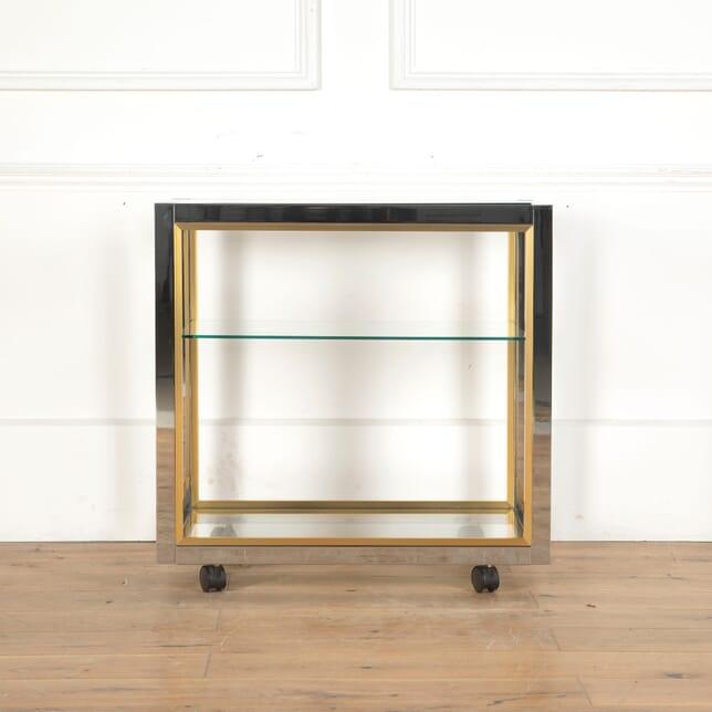 Brass, Glass, and Chrome Three Tier Trolley TC5313134