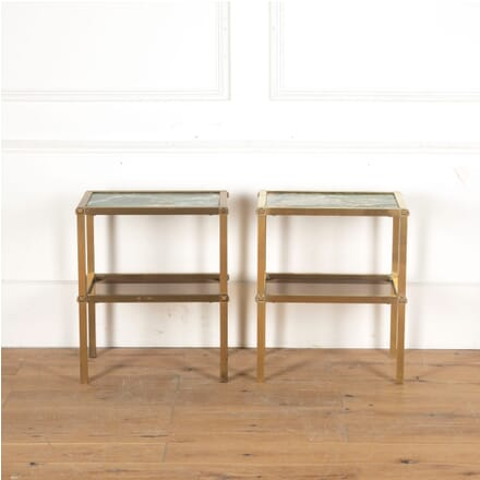 Pair of Brass and Marble Two Tier Side Tables TC5313065