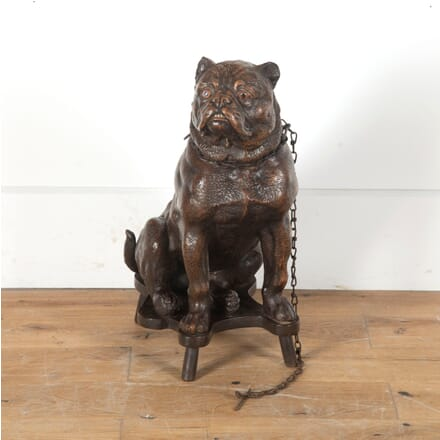 Lifesize Decorated Terracotta Bulldog DA0312706