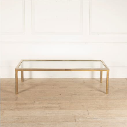 Large Brass and Chrome Coffee Table CT4812764
