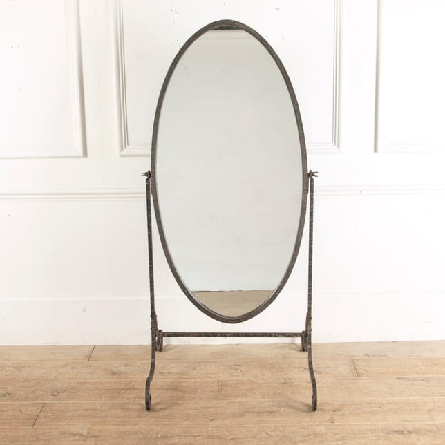 Early 20th Century Cheval Mirror with Bevelled Glass MI8813076