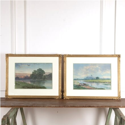 Pair of 19th Century Eton and Windsor Watercolour Paintings by Francis George Coleridge WD8813080