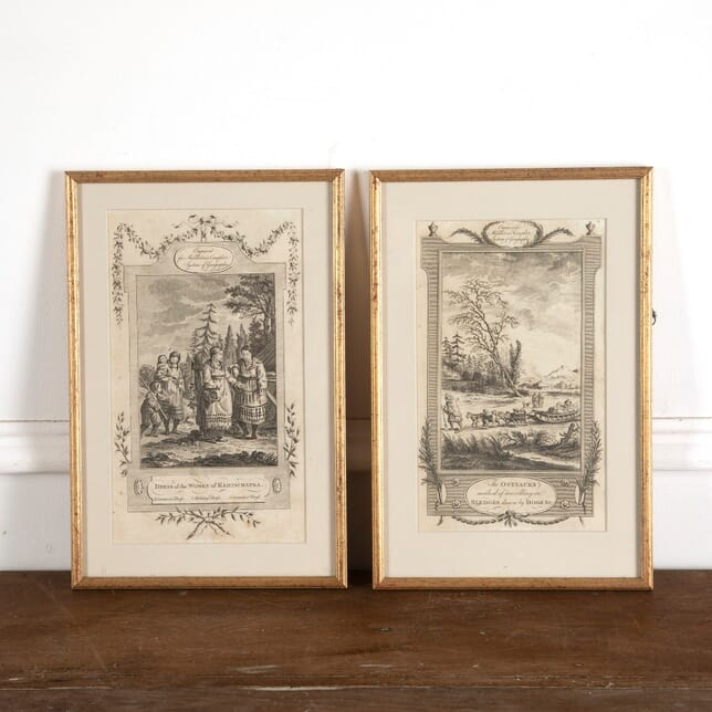 19th Century Etchings of the Ostiacks and Women of Kamptschatka WD8813089