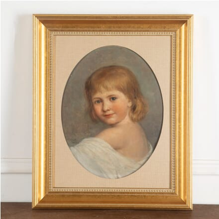 19th Century Oil on Canvas of a Young Girl by Emma Irlam Briggs WD8813082