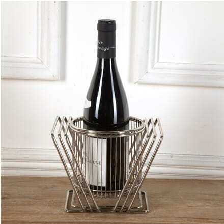 Industrial Silver Plated Cage Wine Coaster DA5811411