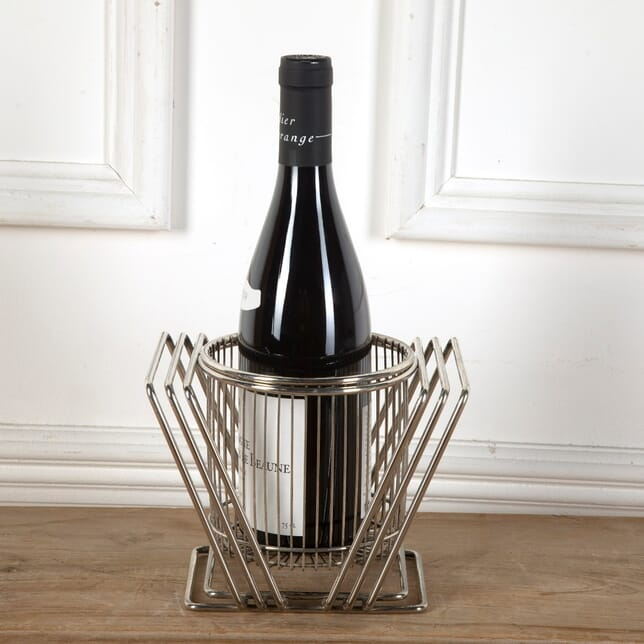Industrial Silver Plated Cage Wine Coaster DA5811411