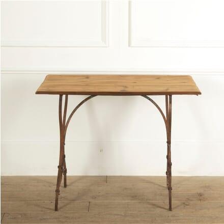 Iron Garden Table with Wooden Top GA1311463