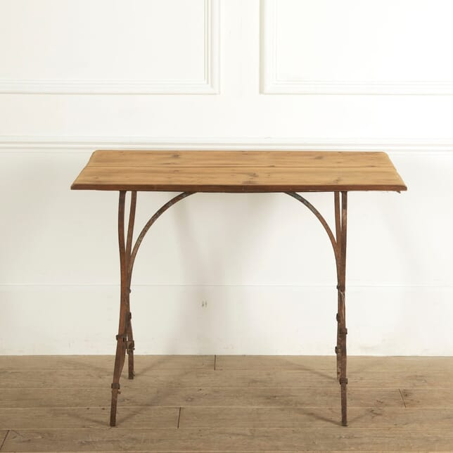Iron Garden Table with Wooden Top GA1311463