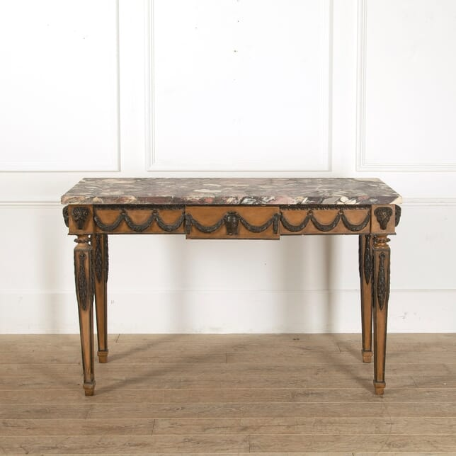 Italian 18th Century Breche Violette Marble Topped Console Table CO4111609