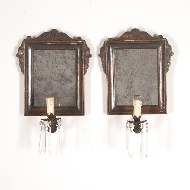 Pair of Italian 18th Century Mirrors with Sconces MI4514286