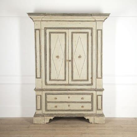 Italian 18th Century Painted Cupboard CU2815537