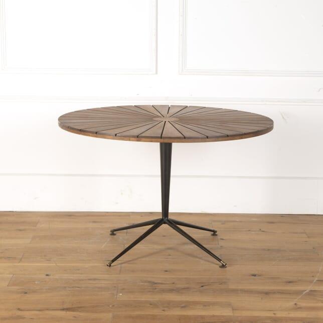 Italian 1960s Wood and Metal Round Table DA7913475