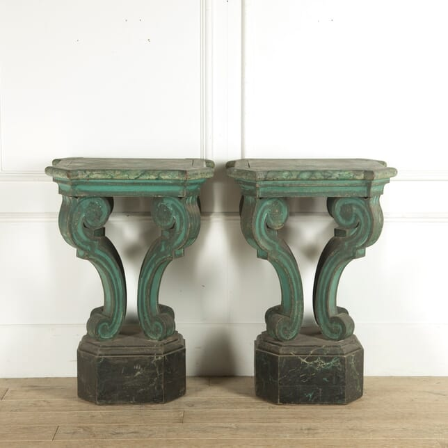 Italian Original Painted Console Tables CO0410369