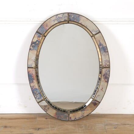Italian Mid Century Oval Mirror MI7914956