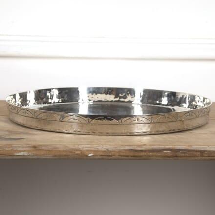 Italian Round Silver Cocktail Tray DA1516599