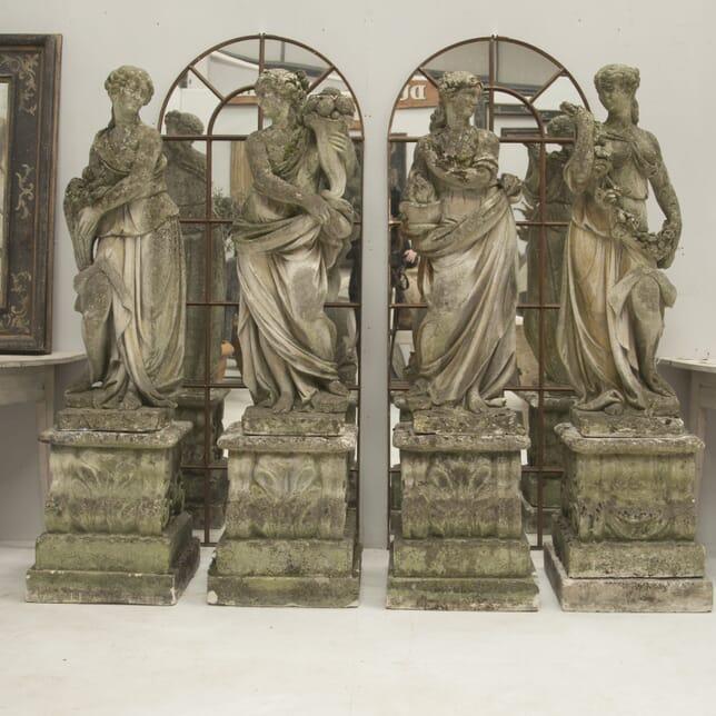 20th Century Italian Vicenze Stone Statues GA0210226