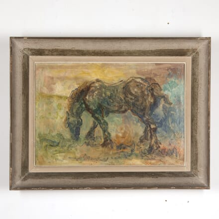 Expressionist Painting of Standing Horse WD7816919