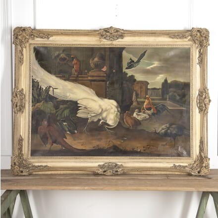Jacob Van Roon Oil on Canvas 'The White Peacock' WD8815087