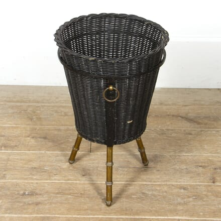 Faux Bamboo Basket by Jacques Adnet DA2917458