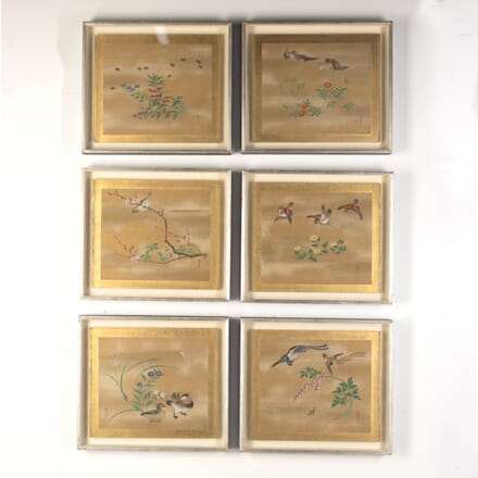 Set of Six Japanese 19th Century Paintings WD7615867