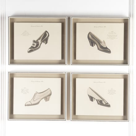 Set of Four Jazz Age Lithographed Shoe Designs WD7614911