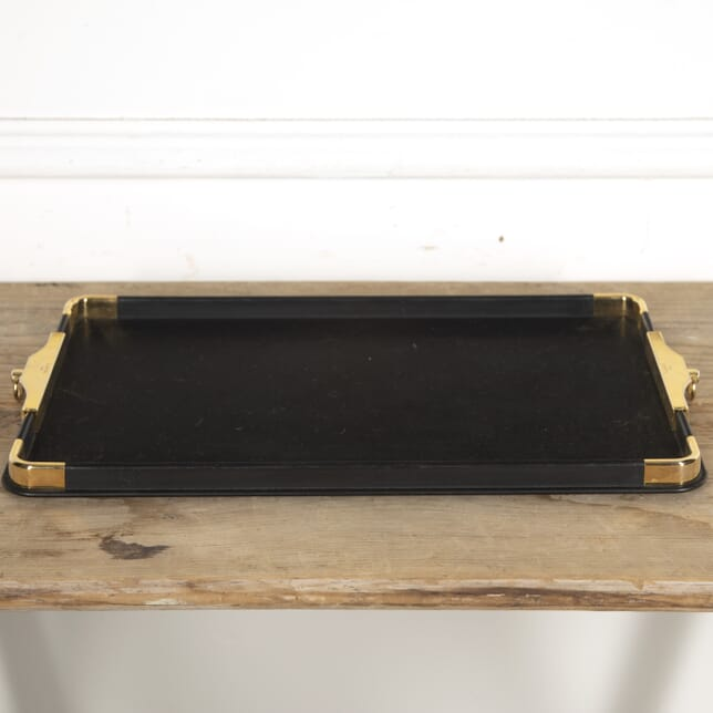 Leather and Brass Tray by Lancel DA1515334