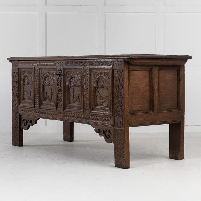 Large 18th Century Dutch Oak Coffer CB0611421