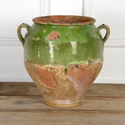 Large 18th Century Green Confit Pot DA7117683