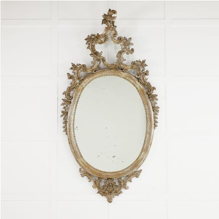 Large 18th Century Italian Silver Gilt Mirror MI0610194