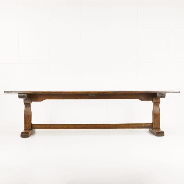 Large 1930s Oak Refectory Dining Table TD069912